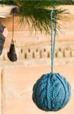 Cabled Globe Ornament, from Knitting Daily TV Episode 901 - Knitting Daily