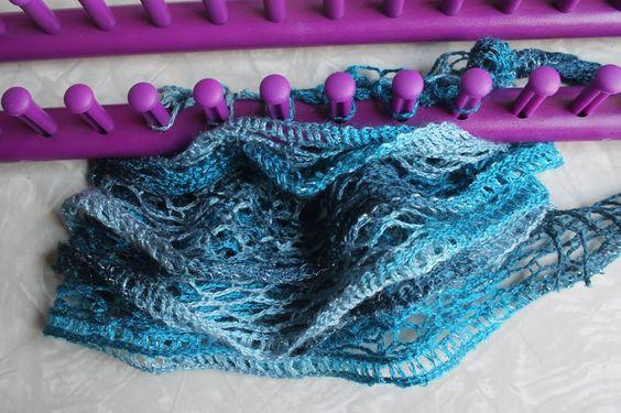 Loom Knitting a Ruffle Scarf | Leisure Arts Blog