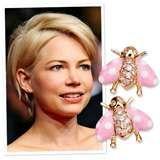 Michelle Williams in Asprey Ladybug Earrings