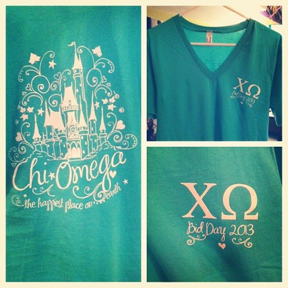 anch0redhearts:  Chi Omega - the happiest place on earth! Bid day 2013!