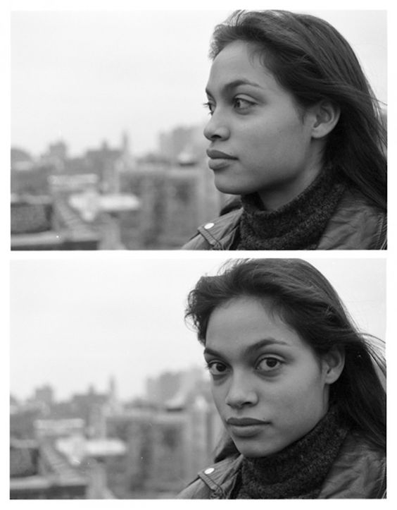 Rosario Dawson photographed by Frank H. Jump, 1997, New York City. Via Fading Ad.