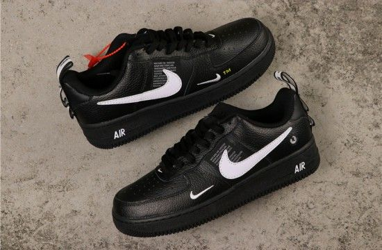 Nike Air Force 1 '07 LV8 'Overbranding' Utility Black White