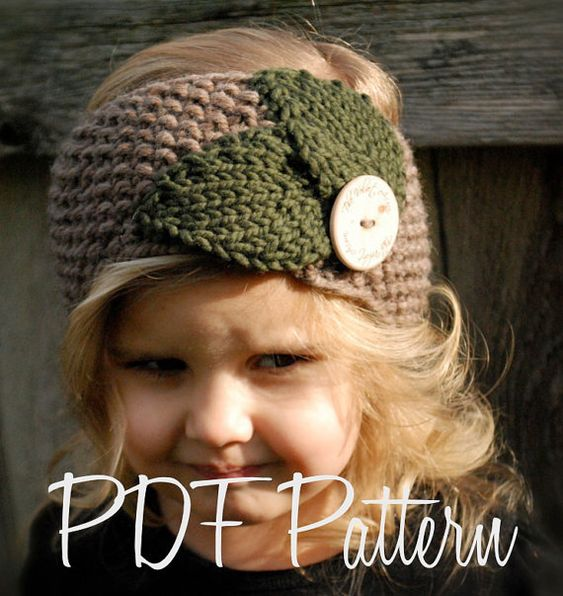 Childs Knitted Headband Pattern : Knitting PATTERN-The Jordynn Warmer (Toddler, Child, Adult sizes) Patterns,...