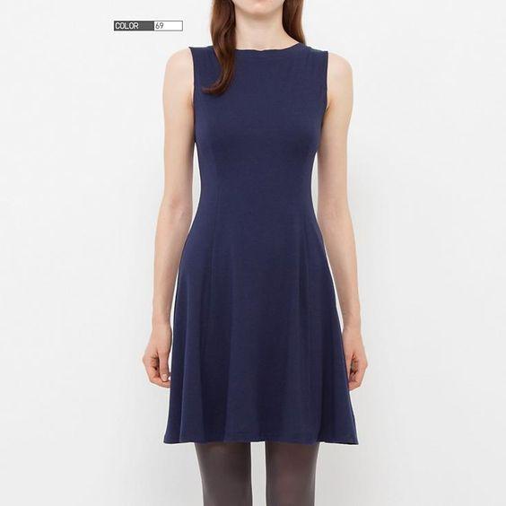 WOMEN FLARE SLEEVELESS DRESS - Dresses - Pinterest - Products ...