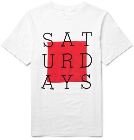 Saturdays Surf NYC - Slab Box Printed Cotton-Jersey T-Shirt