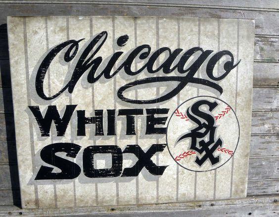 original #white sox sign by ZekesAntiquesigns