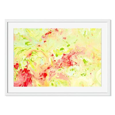 "Gallery Direct 'Springtime Abstract' Framed Painting Print Size: 19"" H x 28"" W x 1"" D"