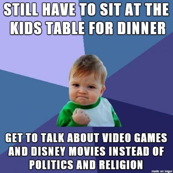 The Perks of Sitting at the Kids Table | Thanksgiving | Know Your Meme