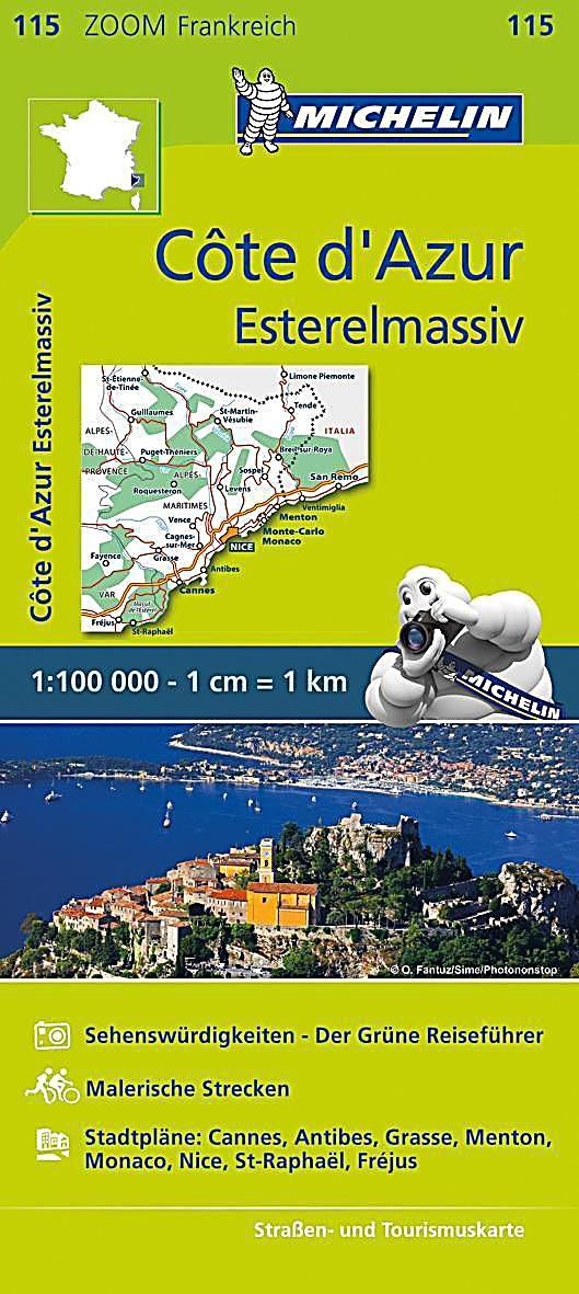 Michelin Karte Cote D Azur Esterelmassiv Cote D Azur Massif