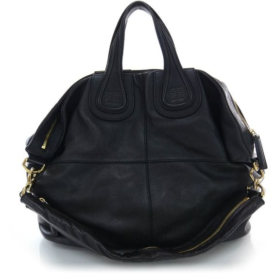 Fashionphile - GIVENCHY Leather Nightingale Shopper Tote Black
