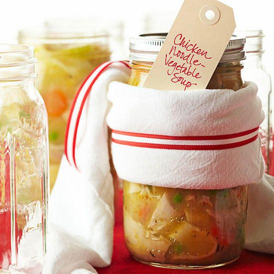 Mom's classic recipe makes a great gift and looks tasty in a quart jar wrapped with a flour-sack towel and seasonal ribbon. Wrap with a kitchen towel and ribbon, and tuck in a basket with a warm loaf of bread for a cozy, comforting food gift.