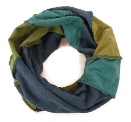 Hemp and Organic Cotton Jersey Knit Neck Warmer Infinity Scarf by EarthboundCreations, $13.00