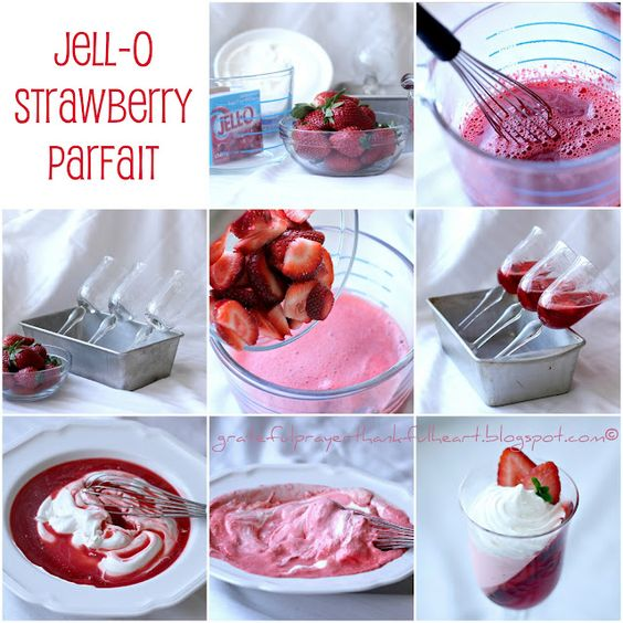 Strawberry JellO Parfait