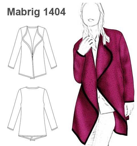 Molde Mabrig1404 Moldes De Ropa Patrones De Ropa Tapados Mujer