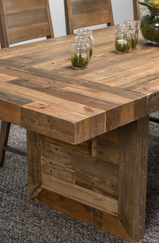 Abbey Extendable Solid Wood Dining Table Solid Wood Dining Table Pallet Dining Table Wood Dining Table
