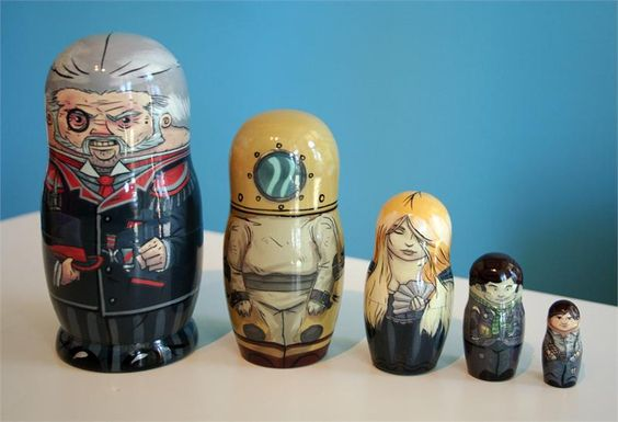 Super Punch: Double Fine stacking dolls