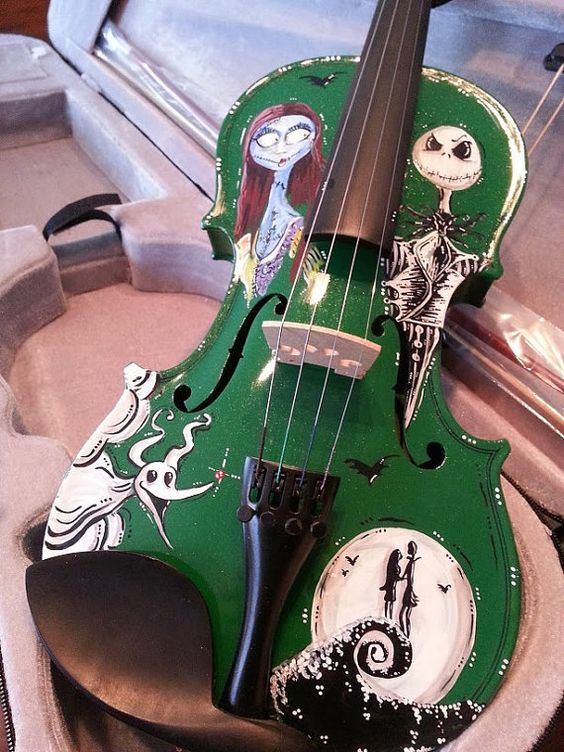 RESERVED* Custom Hand-Painted Tim Burton Inspired Nightmare Before