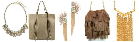 how to wear fringe in accessories!