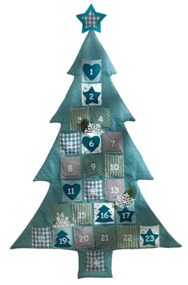 calendriers de l 39 advent calendrier de l 39 avent sapin de noel en style patchwork d coration. Black Bedroom Furniture Sets. Home Design Ideas