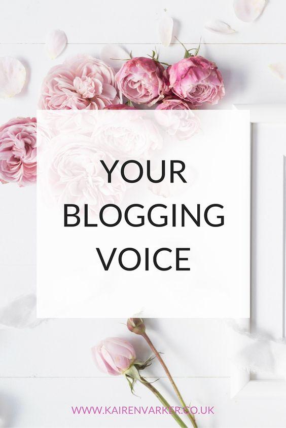 Blogging - Your Voice http://www.kairenvarker.co.uk/blogging-your-voice/
