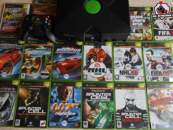 Console et jeux Xbox : GTA San Andreas, James Bond 007 Nightfire, NFS, NHL, Splinter Cell, Burnout 3 Takedown