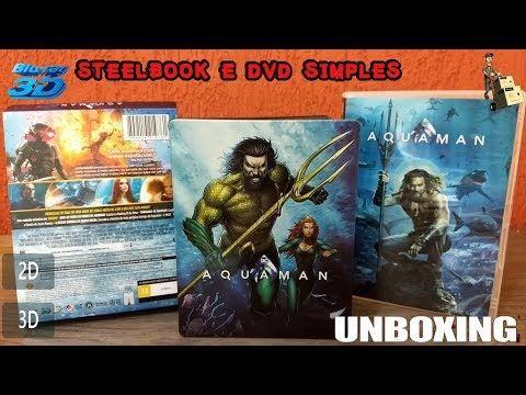 Steelbook Aquaman Blu Ray 3d Blu Ray 2d Dvd Simples Dvd