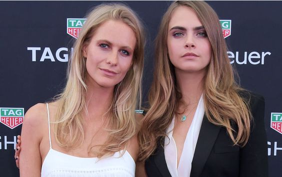 with her sister, Poppy Delevingne