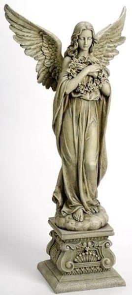 Large 48 T Guardian Angel Statue Garden Home Chapel