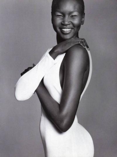 Sudanese model Alek Wek