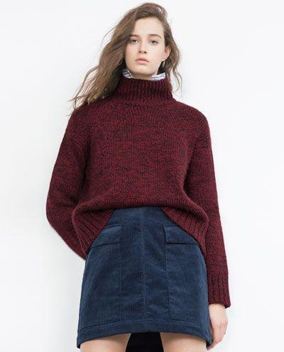 Image 3 of CORDUROY MINI SKIRT from Zara