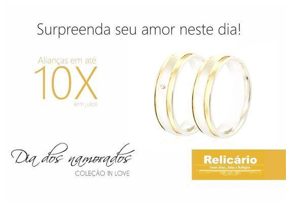 Aproveite o dia dos namorados para surpreender seu amor. coleção IN LOVE!  ! #valentineday #diadosnamorados #colecao #inlove by relicario_semijoiasrelogios