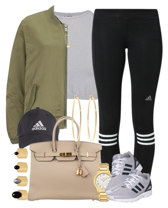 """""""Adidas from her head to her toes """" by livelifefreelyy ❤ liked on Polyvore featuring Free People, adidas, Maison Scotch, Hermès, Fendi, Joolz by Martha Calvo, Michael Kors, Ela Stone and Brooks Brothers"""