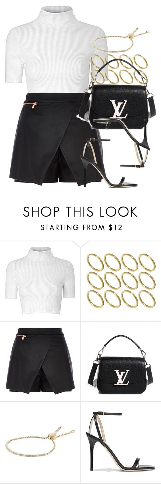 """""""Style #10388"""" by vany-alvarado ❤ liked on Polyvore featuring Glamorous, ASOS, River Island, Louis Vuitton, Michael Kors and Jimmy Choo"""