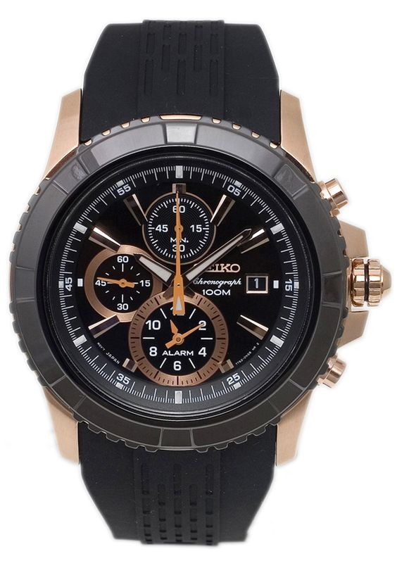 Price:$168.35 #watches Seiko SNAE14P1, This Seiko Chronograph timepiece combines both the Sporty and sophisticated looks.