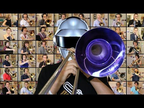 48 Musicians Play Daft Punk On Trombones And A Violin In 2020 Daft Punk Punk Songs Trombone