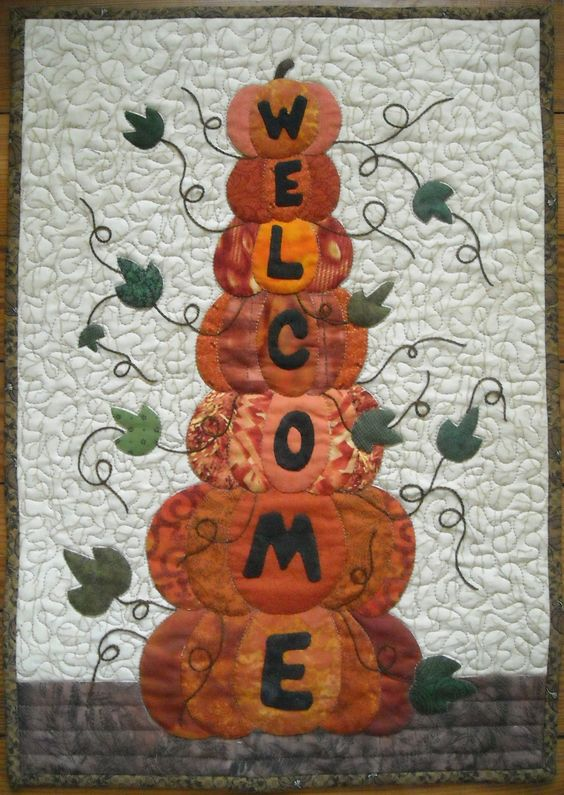 Autumn Welcome quilt by Shelly Pagliai. Panama Canal cruise projects.