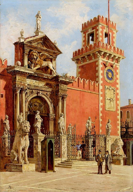 Antonietta Brandeis (Czech, 1848 - 1926): The Venetian Arsenal: