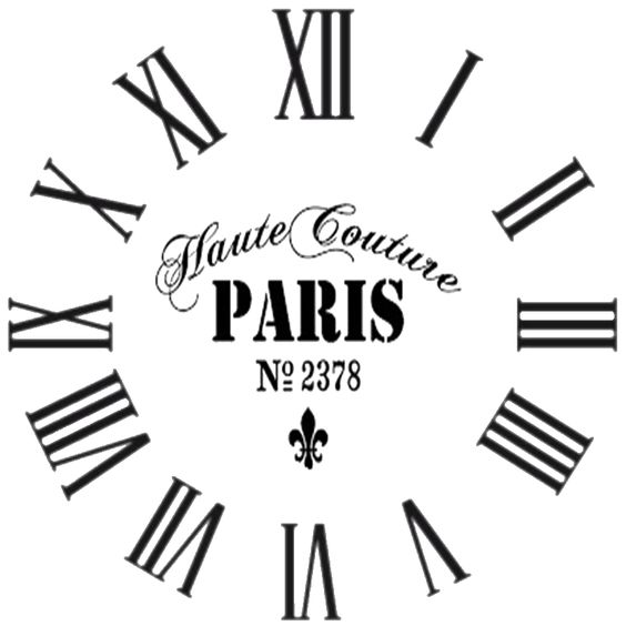 Stencils, Clock faces and Clock on Pinterest