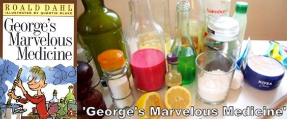playful science experiment fun with the Roald Dahl book, George's Marvelous Medicine