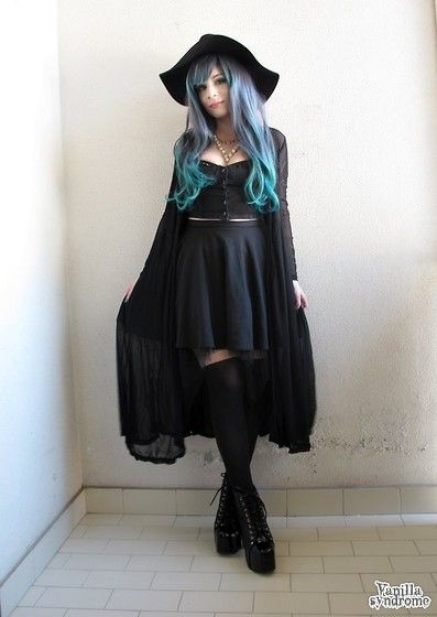 Sammy Dress Black Cardigan, Sammy Dress Skull And Crosses Necklace, Sammy Dress Tights, Jeffrey Campbell Lita Coco. NU GOTH. WITCH INSPIRED FASHION. PASTEL.