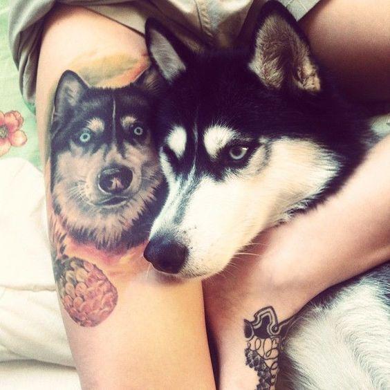 Alaskan Malamute Tattoo Husky Tattoo Siberian Husky Dogs