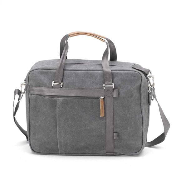 QWSTION - Office Tote - Washed Grey - Whether you like it up or down; smart or serious – the Office Tote adapts to your mood. The fully 