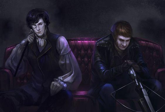 Vampire Sherlock_ Werewolf John by godforget.deviantart.com on @deviantART