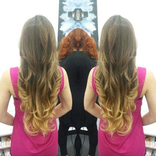 hair cabello balayage californianas ombre cut corte layers