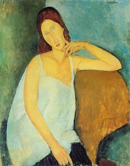 :: Modigliani, portrait de Jeanne Hebuterne ::