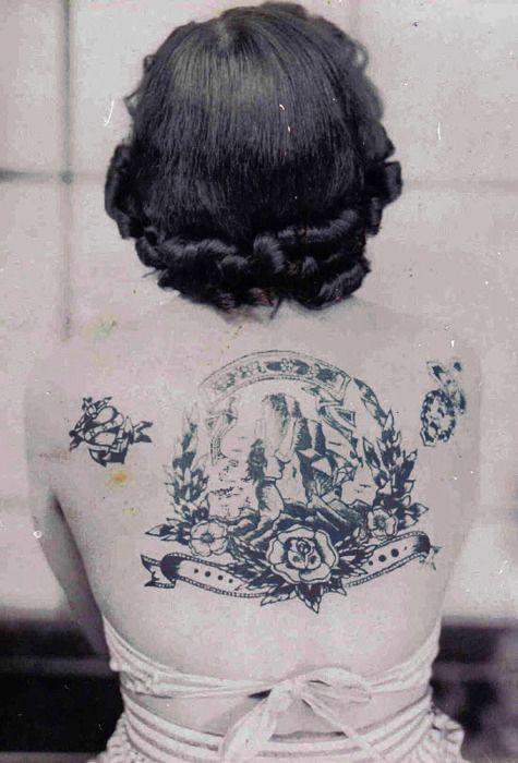 vintage tattoo: Vintage Tattoos, Body Art, 1940S Tattoo, Vintage Photo