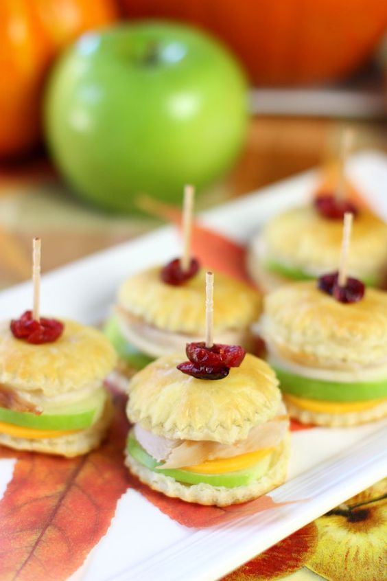 Thanksgiving Turkey Apple Pastry Bites Recipe