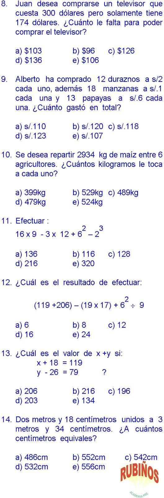 Matematicas 20 Ejercicios Resueltos De Tercer Grado De Primaria En Pdf Matematicas Tercer Grado Tercer Grado Matematicas