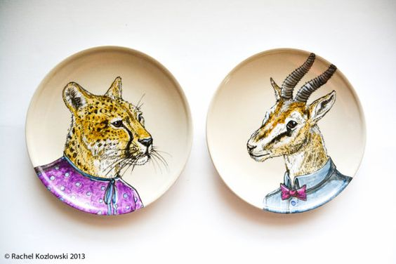 Opposites Attract - Cheetah & Gazelle - Set of 2