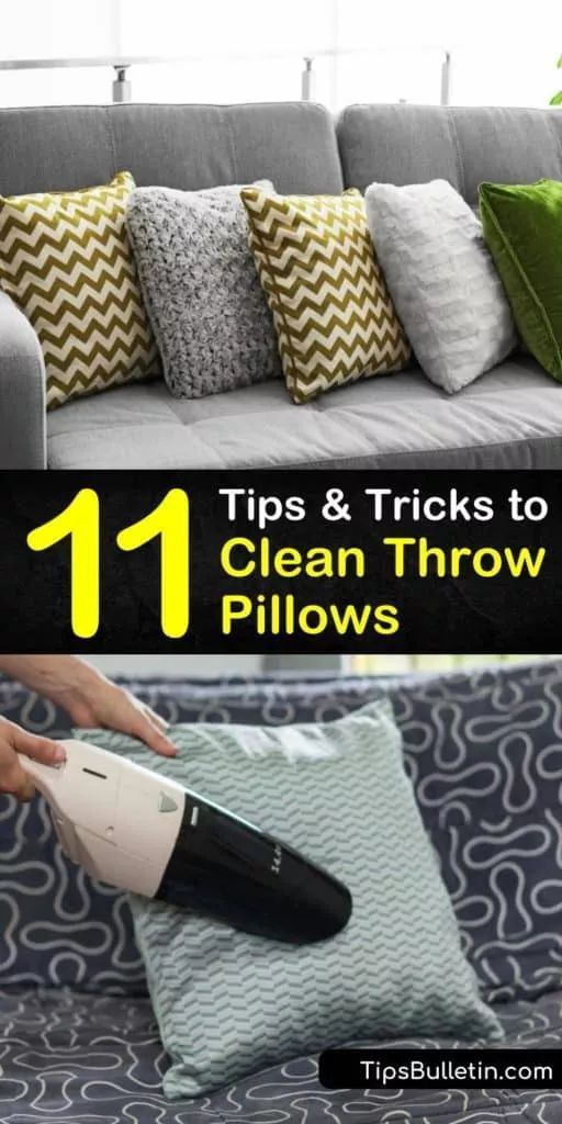 Pin On Tricks And Hacks Cleaning How to clean throw pillows